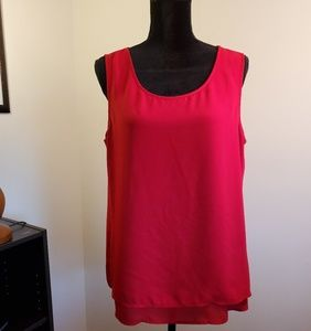 Chico's Sleeveless red top.  Size L/12.